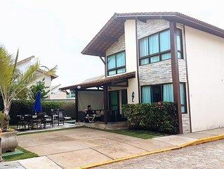 CASA BEIRA MAR EM MURO ALTO/P. GALINHAS- 3 SUITES .12 P  PGT 12XS/JUROS CARTÃO