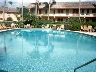 Great location on first floor (corner unit ) near heated pool and social room.
