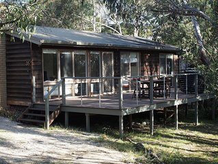 Cosy, comfortable, light-filled cottage sleeps up to six among the gum trees.