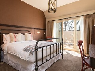 One of four boutique hotel rooms at The Townsman on the Downtown Mall