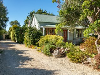 Central Greytown secluded character 1880's cottage
