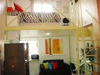 Lindo Loft à Passos do Metro e VLT  Cinelandia, WiFi, Ar Cond, TV a Cabo