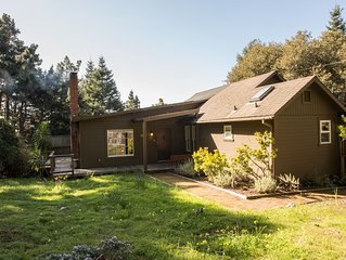 Relax in this beautiful home featuring private decks overlooking Mendocino views