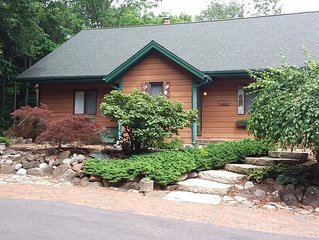 Private home on twenty wooded acres.
