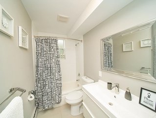 Bathroom with high end finishes.