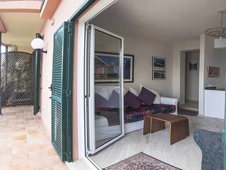 Luxurious apartment with breathtaking views of Italian Riviera.