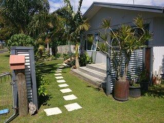 Open plan, tropical getaway, Northern end of Waihi Beach