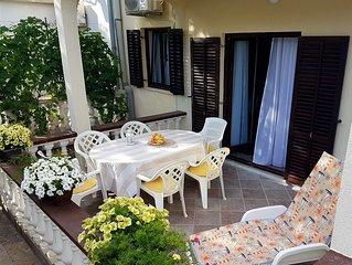 apartment near a sandy beach suitable for families