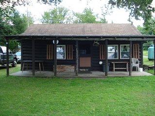 Waterfront 4-Season Log Cabin     ( Moose Camp)