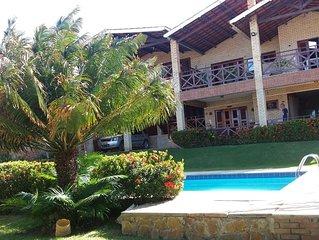 Casa luxo 100m em frente da praia. Lugar tranquilo com vista bonita.