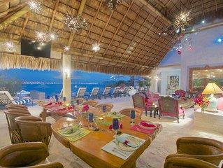 Oceanfront Villa located in upscale community in Manzanillo
