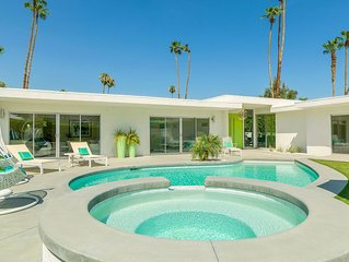 'California Palms' 4BR/4.5BA, MidCentury Dream, Private Pool, South Palm Springs