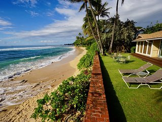 North Shore Oahu Beachfront Home on White Sand Beach (legal licensed short stay)