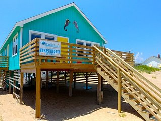 This DOG FRIENDLY Outer Banks vacation rental cottage 'Seahorse' is right on the