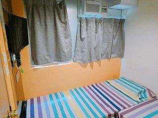 Tsim Sha Tsui New Studio Room✰2 Single-beds Room15