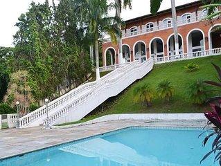 casa mansão prainha (martim de sá)  6 dor.  2 piscinas  s. jogos pê na areia