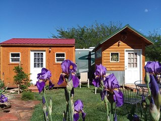 Tiny Sleeper Cabins located at Zion West RV Park