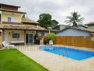 Casa com piscina Moderna e Confortável a 1km da Praia do Curral