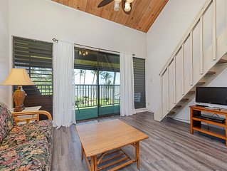 Ocean View w/Lanai, Loft, Open Kitchen, Flat Screen, Ceiling Fans–Molokai Shores