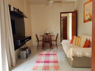 O MELHOR APTO 1 QTO: WiFi, Smart TV, ar, rede e garagem a 2 quadras Praia Forte