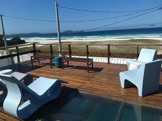 Casa do Beiral Azul. Frente Praia e Lagoa, com Pisc + Churr. Ideal p/ Familias