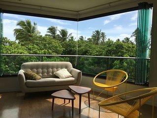 Flat novo alto padrao 2 suites no Carneiros Beach Resort, definida vista mar