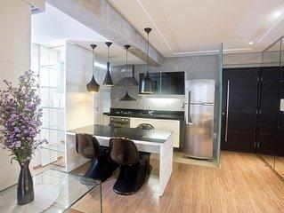 Luxuoso e aconchegante flat.