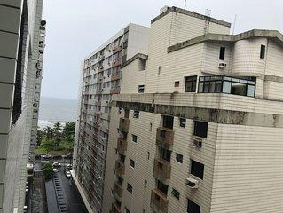 Santos - Diaria - 1 dormitorio - Aparecida/Embare - Em frente ao mar