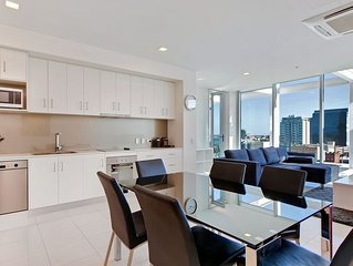Light and spacious, stunning views of Adelaide CBD