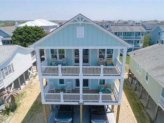 *Newly Built*4 Min. Walk to Ocean, Inverted Plan/Marsh views/Private Beach Walk