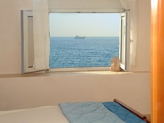 By the sea apartment 5, literally on Agios Andreas beach in Ierapetra, Crete