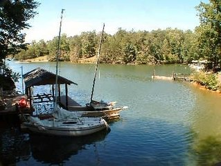 Abundant Peace; Lakefront House with Dock, Canoe, Kayaks and Internet