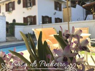 CASA DO PINHEIRO - Petropolis - 5 Quartos/ Piscina/ Lareira/ Area Verde