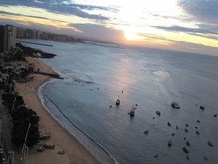Apartamento sensacional  de 2 quartos à beira mar com vista panorâmica