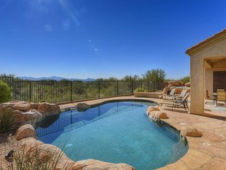 Dove Mountain Gem has incredible views, pool, and spa.  Come enjoy our home.