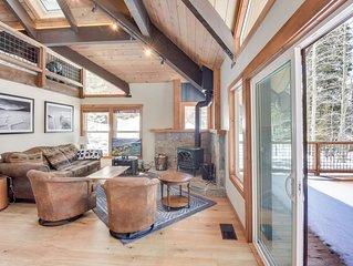 Mountain Modern Alpine Home with Custom Hot Tub, BBQ Deck