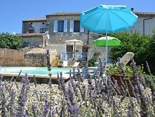 Village House with garden and private pool in a charming Bastide Village
