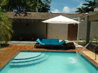 Linda casa nova com piscina e 4 quartos, praia de Tamandare