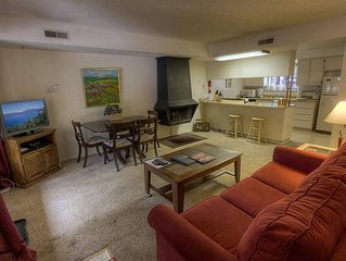 Budget Friendly Forest Condo near Heavenly w/Fireplace Sleeps 6 (HCC0646)