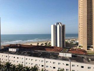 Lindo Apartamento Frente ao Mar PRAIA GRANDE VILA MIRIM