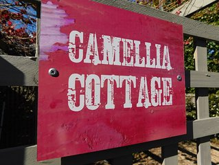 Camellia Cottage is light filled and quaint in a leafy private environment.