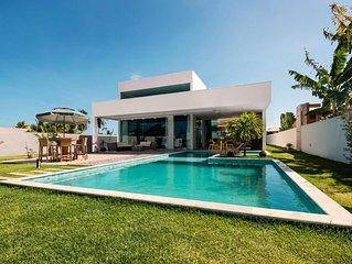 Casa de Praia Confortável e Luxuosa no Melhor Condomínio de Serrambi