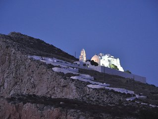 800 year old Castle house on the cliff with seaview- Folegandros Chora Castro