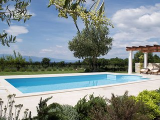 Villa Cassiopeia 4* for 9, with private pool and sea view, Island Krk, Croatia