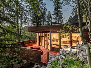Modern Treehouse - Unique Contemporary Home Nestled in the Forest, Hot Tub, Fire