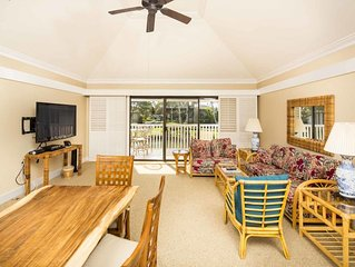 Two-Level Suite w/Gourmet Kitchen, Lanai, Ceiling Fans–Kiahuna Plantation #2205