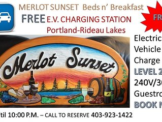 MERLOT SUNSET - FREE Electric Vehicle Charging with every Reservation