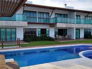 Casa a Beira Mar com Piscina e Ampla Área de Lazer - Porto de Galinhas