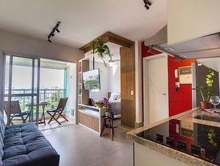 Studio na Vila Madalena, Vista Incrivel! Vermelho