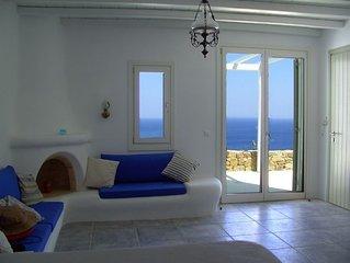 Beachfront villa,stunning beach, seaview.. Eco-friendly. Mykonos